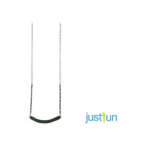 Huśtawki ogrodowe dla dzieci, Huśtawka elastyczna na łańcuchu powlekanym - zielony