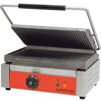 Grille gastronomiczne, Kontakt grill ryflowany 390x390x270 mm | CATERINA, PANINI