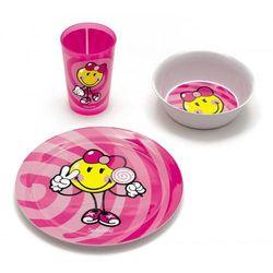 Zak! Smiley Kid - Zestaw naczyń dla dziewczynki 3cz.