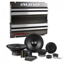 Auna CS-Comp-8 kompletny zestaw głośników samochodowych z 2 -kanałową końcowką mocy & 2-kanałowa końcówka mocy
