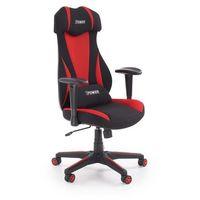 Fotele dla graczy, Fotel dla gracza gamingowy HALMAR ABART czerwony/czarny - ZŁAP RABAT: KOD50