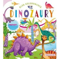 Literatura młodzieżowa, Blok kolorowanek. dinozaury + naklejki -.