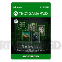 Subskrypcja Xbox Game Pass (3 m-ce) [kod aktywacyjny]
