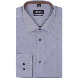 koszula bexley 2313 długi rękaw custom fit niebieski
