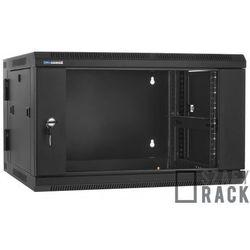 Szafa Rack 19'' 6U 600mm wisząca dwusekcyjna D6606, Kolor - Czarny