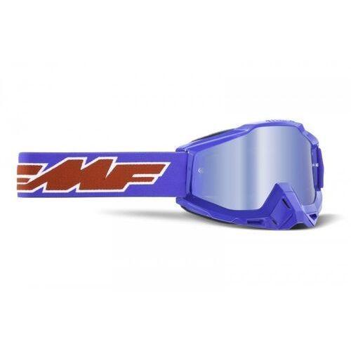 Gogle i okulary motocyklowe, Fmf gogle powerbomb rocket blue szyba mirror blue