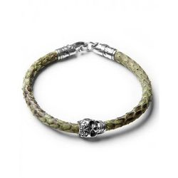 Green python with skull S