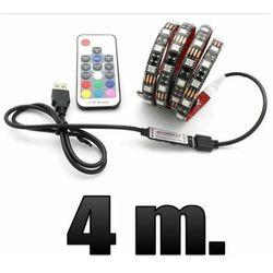Podświetlenie TV- taśma LED RGB-USB gotowy zestaw-pilot