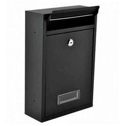 Skrzynka na listy pocztowa czarna na zamek