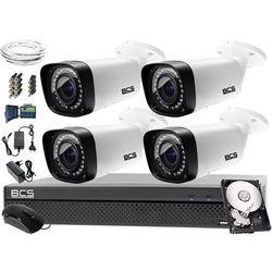 Monitoring BCS komplet BCS-CVR0801-X + 4x Kamera BCS-THC5130IR-V + Dysk 1TB + akcesoria