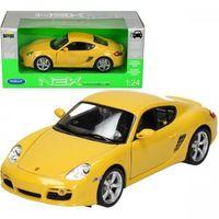 Osobowe dla dzieci, WELLY Porsche Cayman, żółte PORSCHE CAYMAN S