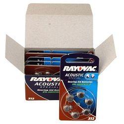 600 x baterie do aparatów słuchowych Rayovac Acoustic Special 312AE