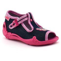 Kapcie dziecięce Befado 213P112 Papi - Różowy   Jeans