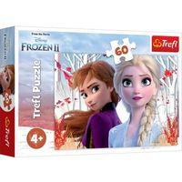 Puzzle, Puzzle 60 elementów Kraina Lodu 2 - Zaczarowany świat Anny i Elsy