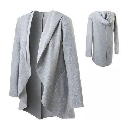Swetry i kardigany, Damski dresowy KARDIGAN/NARZUTKA z kieszeniami KAPTUR
