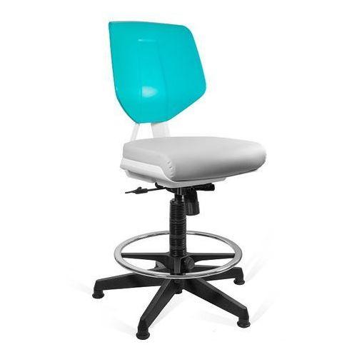 Fotele i krzesła biurowe, Krzesło UNIQUE Kaden grey/green