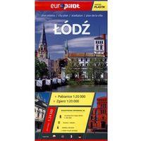 Przewodniki turystyczne, Łódź, Zgierz, Pabianice plan miasta 1:24 500 (opr. broszurowa)