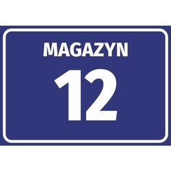 Naklejka magazyn wraz z numerem, oznaczeniem literowym