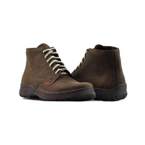 Pozostałe obuwie męskie, Trzewiki Rammit 565/2-CH14 Brązowe