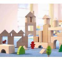 Zabawki z drewna, HABA 001071 Klocki drewniane: Średni zestaw