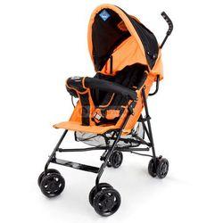 Wózek spacerówka Moolino Compact E czarno-pomarańczowy