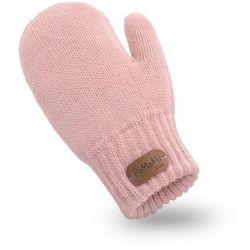 Rękawiczki dziewczęce PaMaMi - Pudrowy róż - Pudrowy róż