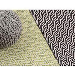 Dywan zielono-beżowy - 120x170 cm - krótkowłosy - chodnik - MALKARA