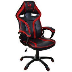 Fotel biurowy GIOSEDIO czarno-czerwony,model GPR041