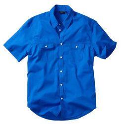 Koszula z krótkim rękawem bonprix lazurowy niebieski