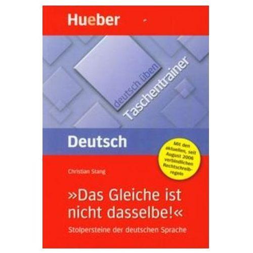 Książki do nauki języka, Deutsch uben Taschentrainer Das Gleiche ist nicht dasselbe (opr. miękka)