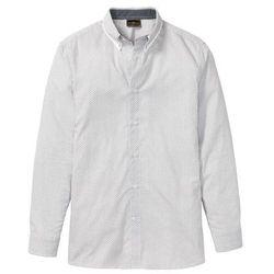 Koszula w delikatny deseń, długi rękaw bonprix biało-czarny w graficzny deseń