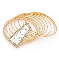 Bransoletka z kamieniem kość słoniowa - kość słoniowa