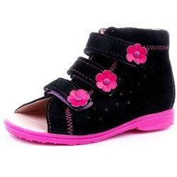 Buty profilaktyczne Dawid model 1041/1042 CZR czarny - róż