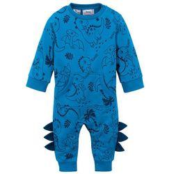 Kombinezon dresowy niemowlęcy, bawełna organiczna bonprix lodowy niebieski - głęboki niebieski