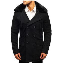 Płaszcz męski zimowy czarny Denley 88872