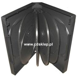Etui plastikowe na 12DVD 39mm czarne