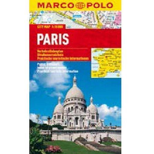 Mapy i atlasy turystyczne, Paryż 1:15 000. Foliowany plan miasta. Marco Polo (opr. miękka)