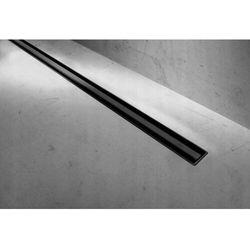 Rea Neo Slim Black Pro 1000 odpływ liniowy 100 cm z kołnierzem czarny REA-G8904