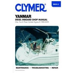 Clymer Manuals Yanmar Diesel Inboard Shop Manual One, Two and Three Cylinder Engines 1980-2009 B800