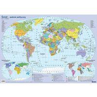 Mapy i atlasy dla dzieci, Mapa świata polityczna Plansza edukacyjna na ścianę i biurko - książka