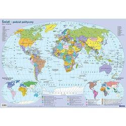 Mapa świata polityczna Plansza edukacyjna na ścianę i biurko - książka