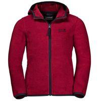Pozostała odzież dziecięca, Polar dziecięcy BAKSMALLA HOODED JACKET KIDS dark lacquer red - 104
