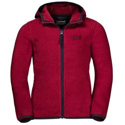 Polar dziecięcy BAKSMALLA HOODED JACKET KIDS dark lacquer red - 128