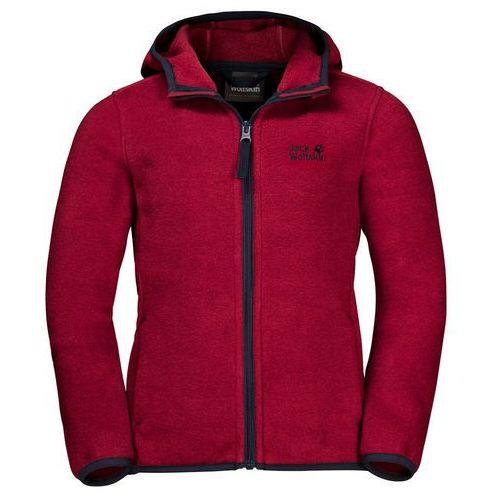 Pozostała odzież dziecięca, Polar dziecięcy BAKSMALLA HOODED JACKET KIDS dark lacquer red - 128