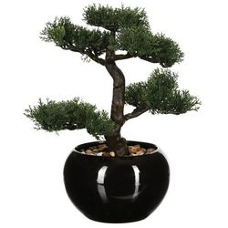 Sztuczna drzewko bonsai, w ceramicznej doniczce, sztuczne kwiaty, uniwersalna dekoracja, ozdoba pokoju, biura, czarna doniczka, egzotyka