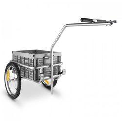 DURAMAXX Bigbig Box Przyczepka rowerowa Wózek ręczny Wysoki dyszel 40 l 40 kg Kolor szary