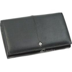 Samsonite Slim Light 144-234-01 portfel skórzany damski - czarny