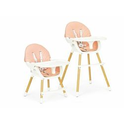 Fotelik, krzesełko do karmienia dla dzieci, ecotoys, 2w1, różowy darmowa dostawa