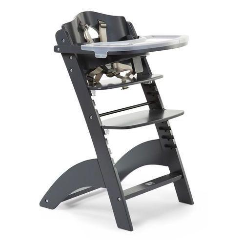 Krzesełka do karmienia, Krzesełko drewniane do karmienia dla niemowląt Lambda 2 - antracyt - Childhome