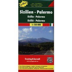Sycylia, Palermo 1:150 000. Mapa samochodowa, składana. Freytag&Berndt (opr. twarda)